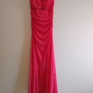 pink glitter shimmer prom dress size small